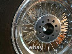 15 chrome wire wheels, bolt on hubs spinners for Z3 250 SWB or California kit