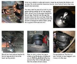 3/8 Front Air Ride Suspension Bag Bracket & Shock Kit For 82-88 G-Body Car
