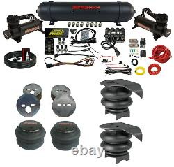 3 Preset Pressure Complete Bolt On Air Ride Suspension Kit For 1988-98 Chevy C15