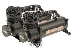 480 Black Air Compressors Valves 7 Switch & Tank Air Ride Kit For 1958-64 Impala