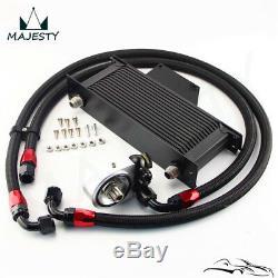 AN10 16 Row Bolt On Black Oil Cooler Kit For 01-05 Subaru Impreza WRX/STi