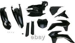 Acerbis Black Full Plastic Complete Kit For KTM 125-450 SX XC 13-14 2314330001