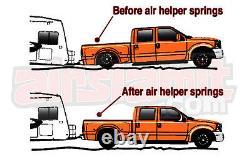 Air Helper Kit No Drill Bolt On Load Level For 6 Lifted 2011-17 Silverado 8 Lug