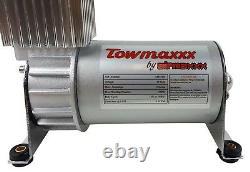 Air Helper Spring Load Level Kit Bolt On White Gauge For 2001-10 Chevy GMC 2500