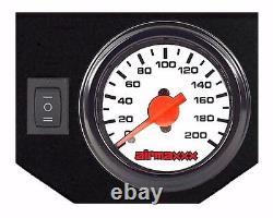 Air Load Level Bolt On Kit White Gauges For 2011-17 Chevy 2500 3500 8 Lug Truck