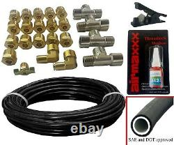 Air Ride Kit For 1958-64 Impala Valves 7 Switch 480 Black Air Compressors & Tank