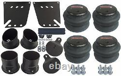 Air Ride Kit Valves 7 Switch 480 Black Air Compressors & Tank For 1958-64 Impala