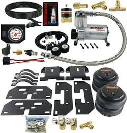 Air Tow Assist Kit White Gauge In Cab Management For 2003-13 Dodge Ram 2500/3500