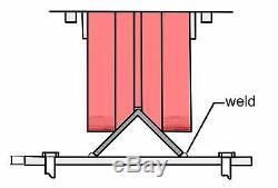 Angula Sliding Gate Kit for Medium to Large gate stop, keep, bolt on wheels