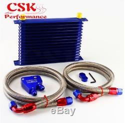 BOLT ON LS1/LS2 Blue Oil Cooler Kit for Commodore V8 VX VY VZ VE Sump Line SS