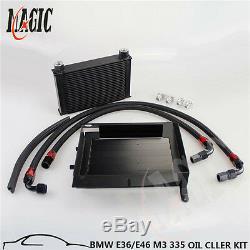 Black 25 Row Bolt On Oil Cooler Kit Upgrade For Bmw 3 Series 335i E90 E92 N54