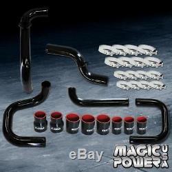 Black Intercooler Piping Couplers S/RS BOV Flange Kit for 1996-2000 Civic EK