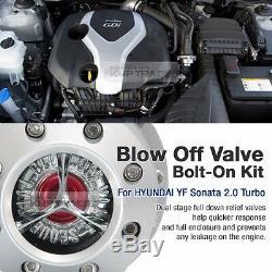 Blow Off Valve Bolt On Kit BOV Flange Pipe SQV for KIA 2011-13 Optima 2.0 Turbo