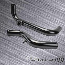 Bolt On Black 2.5 Fmic Aluminum Turbo Intercooler Piping Kit For 94-01 Integra