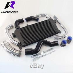 Bolt On FMIC Black Intercooler Kit for Audi A4 1.8T Turbo B6 Quattro 02-06