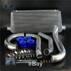 Bolt On FMIC Intercooler Kit for 93-98 Toyota Supra JZA80 Turbo 2JZGTE 2JZ Blue