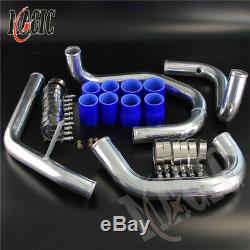 Bolt On Front Mount Intercooler Piping Kit For VW Jetta Golf 1.8T 98-05 Blue