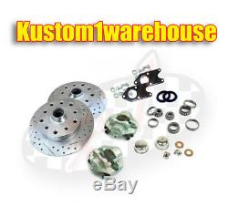 Bolt on link pin front disc brake conversion kit 5 lug Porsche for VW Volkswagen