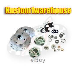 Bolt on link pin front disc brake conversion kit for 4 lug VW Volkswagen Bug