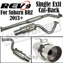CB-206 2 Single Exit Bolt On Cat-Back Exhaust Kit Stainless For Subaru BRZ 13-18