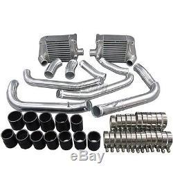CXRacing Bolt On Aluminum Side Mount Intercooler kit For 90-96 Nissan 300ZX Z32