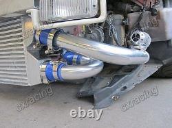 CXRacing Bolt-on Full FMIC Intercooler Kit BOV For 90-96 Nissan 300ZX Z32 Blue