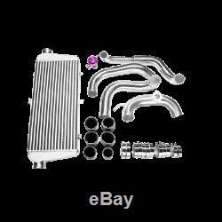 CXRacing Bolt-on INTERCOOLER KIT + BOV for 89-99 SILVIA 240SX S13 SR20DET Black
