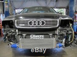 CXRacing FMIC Intercooler Kit Bolt On 28x7x2.5 For 94-01 Audi A4 B5