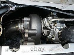CX Bolt On Intercooler + Piping Kit + BOV Blue Hose For 04-08 Acura TSX K24 T04E