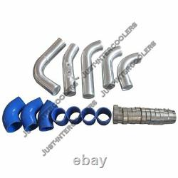 CX Bolt-on Intercooler 2.5 Piping Kit For 00-07 Volvo P2 V70 XC70 2.4T S60 Blue