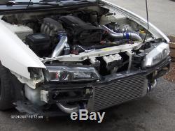 CX FM Bolt-on 30x11x3 INTERCOOLER KIT BOV For 89-99 S14 S15 SR20DET 240SX