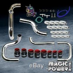 Chrome Intercooler Piping + NeoChrome RS BOV + Black Coupler for 1992-1995 Civic