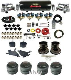 Complete 1/2 Fast Valve Air Ride Suspension 8 Gal Tank For 1982-88 Chevy G-Body