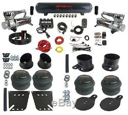 Complete Air Ride Suspension Kit 3/8 Air Manifold Bags & Tank For 58-64 Impala