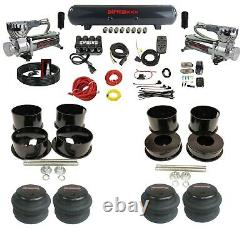 Complete Air Ride Suspension Kit For 91-96 Caprice 3/8 Evolve Manifold & Bags