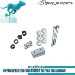 Diff Drop Kit For Ford Ranger PX Everest & Mazda BT-50 Bolt on Corrects 2012