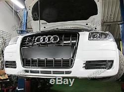 Double Core Front Mount Intercooler Kit For 2003+ Audi A3 8P Bolt On + Blue Hose
