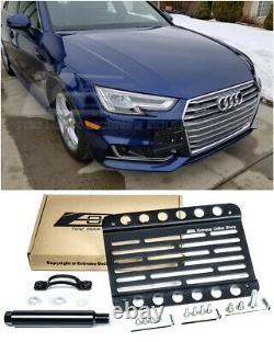 EOS Front Bumper Tow Hook License Plate Relocator Bracket For 2017-Up Audi A4