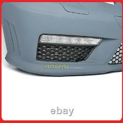 Fog Lights Front Bumper Lower Grille For Benz E-Class 10-13 W212 AMG E63 Style