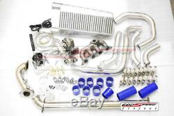 For 01-05 HONDA CIVIC D17 T3 COMPLETE DIRECT BOLT ON TURBO CHARGER KIT