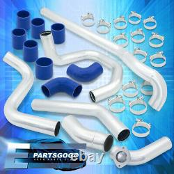 For 02-05 Civic Si Ep3 Front Mount Turbo Chrome Intercooler Bolt On Piping Kit
