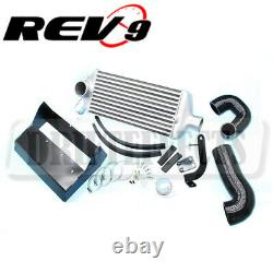 For 08-14 WRX GH EJ25 REV9 Turbo Top Mount Intercooler Kit Direct Bolt on 400hp+