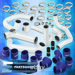 For 10-16 Honda CRZ ZF1 Bolt-On Turbo Intercooler Piping Kit Chrome + Couplers