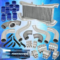 For 1990-1996 300Zx Twin Turbo Piping Kit + Silver Bolt On Intercooler