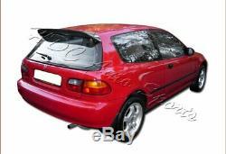 For 1992-1995 Honda Civic Hatchback Carbon Fiber Rear Roof Duckbill Spoiler Wing