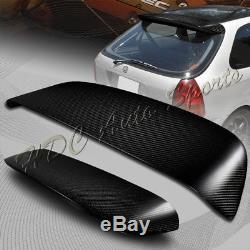 For 1996-2000 Honda Civic Hatchback Carbon Fiber Rear Roof Duckbill Spoiler Wing
