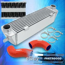 For 2007-2010 BMW E90 E92 135i 335i Bolt On Aluminum Intercooler + Red Couplers