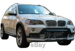 For 2007-2010 BMW X5 E70 PU Aerodynamic Front + Rear Bumper Spoiler Lip Body Kit