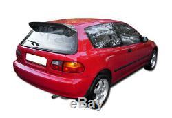 For 92-95 Civic 3DR/Hatchback Spoon Style Carbon Fiber Roof Duckbill Spoiler