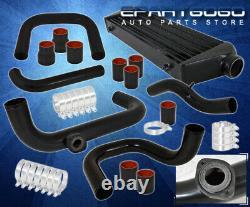For 94-01 Integra B16 B18 Motor Bolt On Turbo Piping Kit BOV Flange Black Fmic